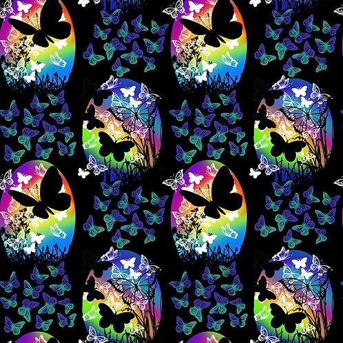 Butterflies in Flight Butterfly Vignettes Fabric