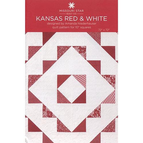 Missouri Star Kansas Red and White Quilt Pattern