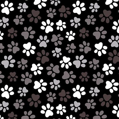 "Windham 108"" Multi Black Paw Prints Fabric"