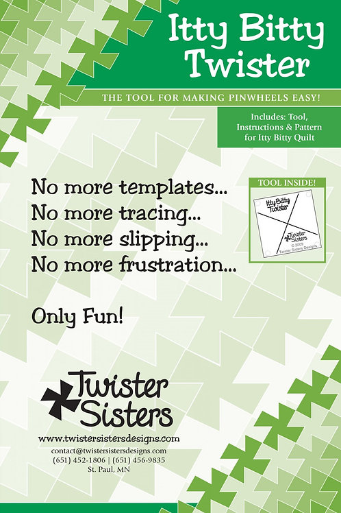 Itty Bitty Twister Quilting Template