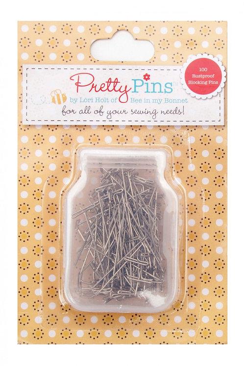 Lori Holt Pretty Pins Blocking T-Pins