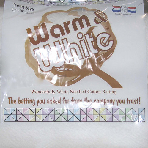 Warm and White Twin Size - Cotton