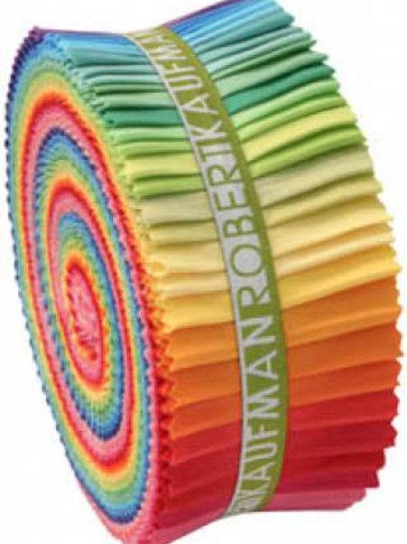 Robert Kaufman Kona Solids Bright Palette Roll Up