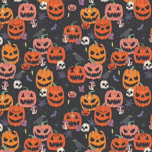 Mystical Halloween Scary Pumpkins Fabric