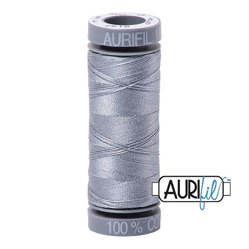 Aurifil 28 100m 2610 Light Grey Cotton Thread