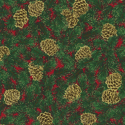 Holiday Flourish Holiday Pine Cones w/metallic