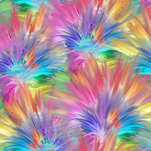 Party Animals Plumes Fabric