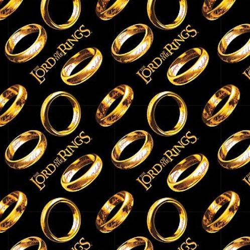 Lord of the Rings Tossed Rings Fabric