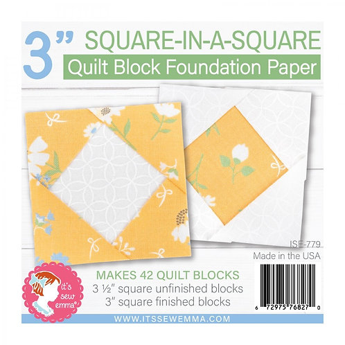 Square in a Square Quilt Block 3in Foundation Paper Pad