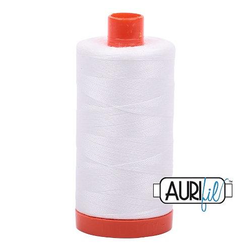 Aurifil 50 1300m 2021 Natural White Cotton Thread