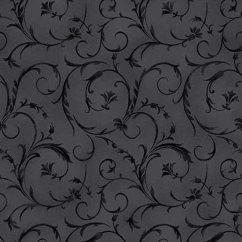 "Maywood 108"" Beautiful Backing Soft Black"