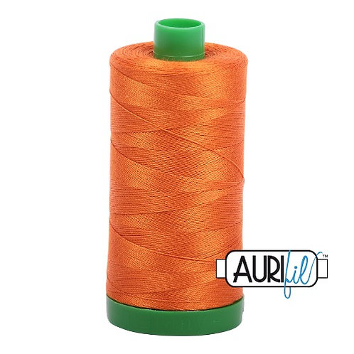 Aurifil 40 1000m 2150 Pumpkin Cotton Thread