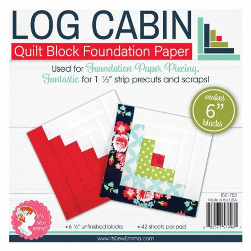 Log Cabin 6in Foundation Paper Pad