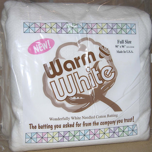 Warm and White Full Size - Cotton