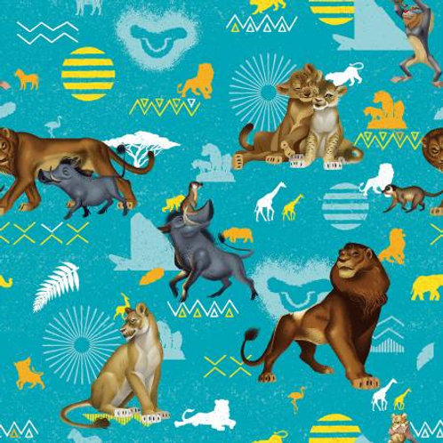 Lion King Characters Fabric