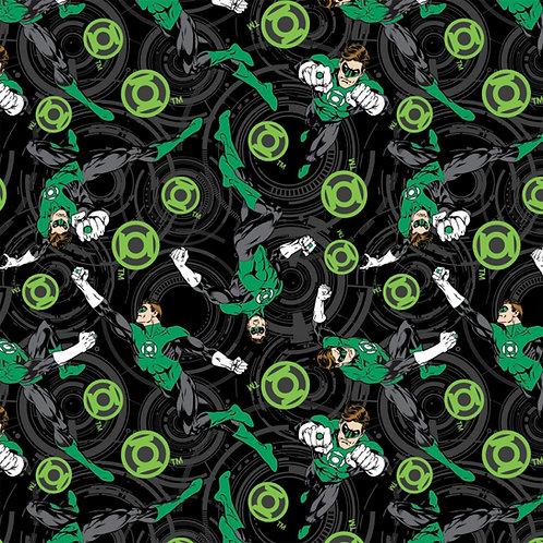 Dc Comics Green Lantern Core Energy Fabric - Black