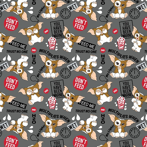 Gremlins The Rules Halloween Fabric