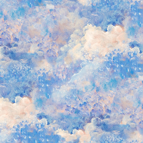 Ray of Hope Blue Clouds Fabric