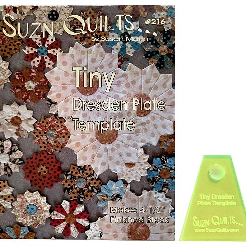 Suzn QuiltsTiny Dresden Plate Template