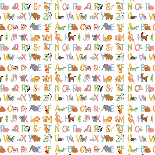 Alphabet Animals Fabric