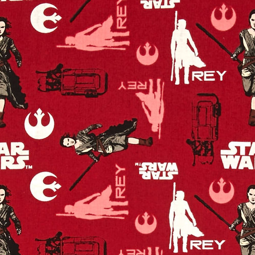 Star Wars Rey Fabric - Red