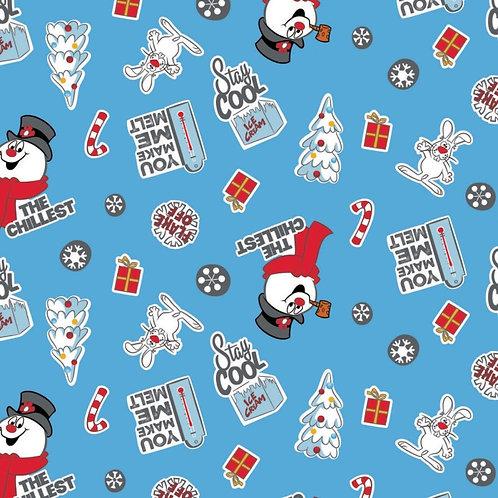Frosty Asset Toss Fabric