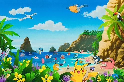 Pokemon at the Beach Panel
