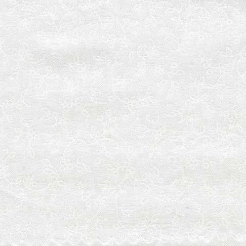 Maywood Ultra White Lacey Vines Fabric 207 - UW