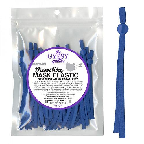 Drawstring Mask Elastic Royal 8in 60ct