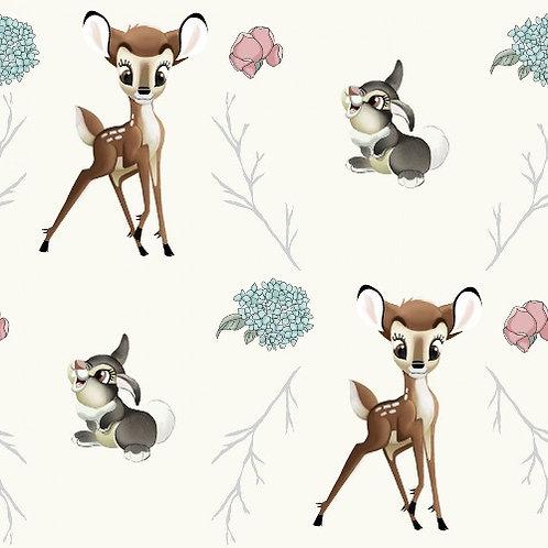 Disney Bambi and Thumper Cross Fabric