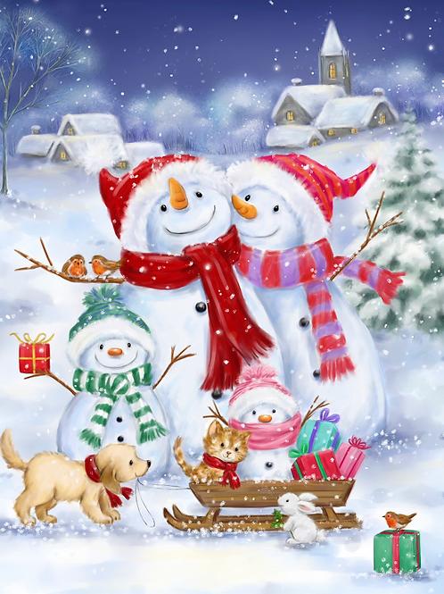 Snowman Christmas Panel