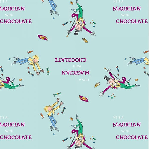 Charlie and the Chocolate Factory Willy Wonka and Charlie Fabric