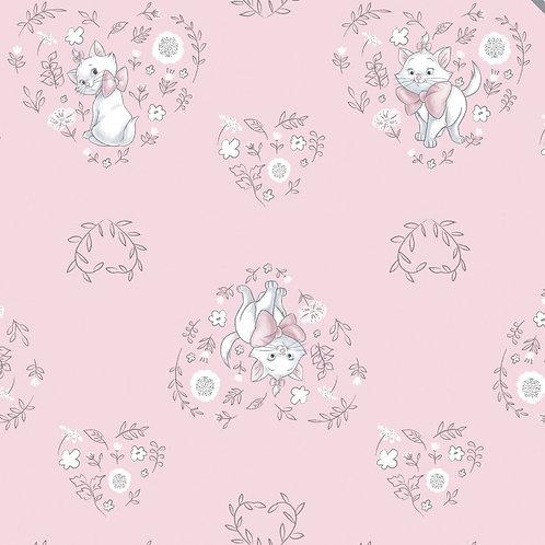 FLANNEL - Disney Aristocats Sentimental Flannel Fabric - White