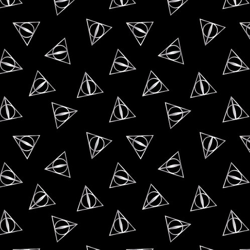 Silver Harry Potter Deathly Hallows Metallic Fabric