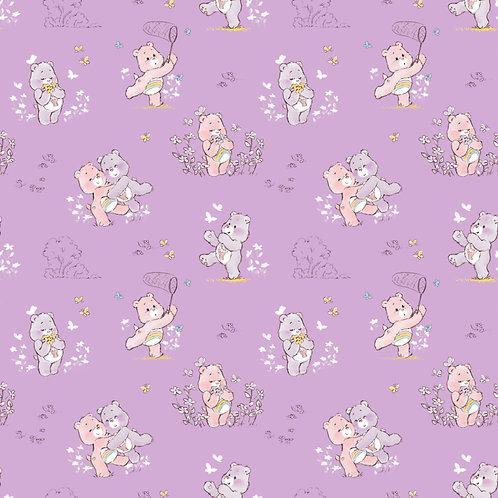 Care Bears Cheer and Share Bears Fabric - Purple