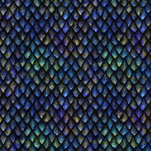 Blue Dragon Scales Fabric