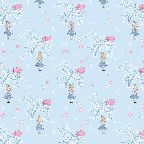 Alice in Wonderland Cheshire Cat Fabric