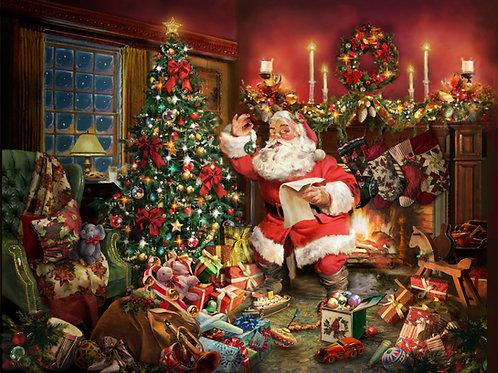 Christmas Santa Claus Digitally Printed Panel 36in