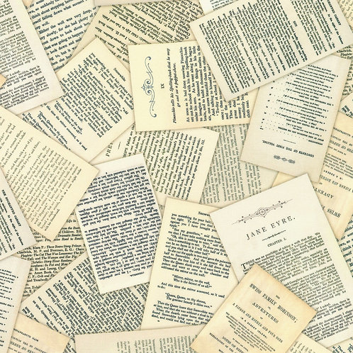 Library of Rarities Antique Books Fabric