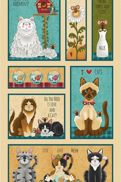 Cream Cat Banner Panel