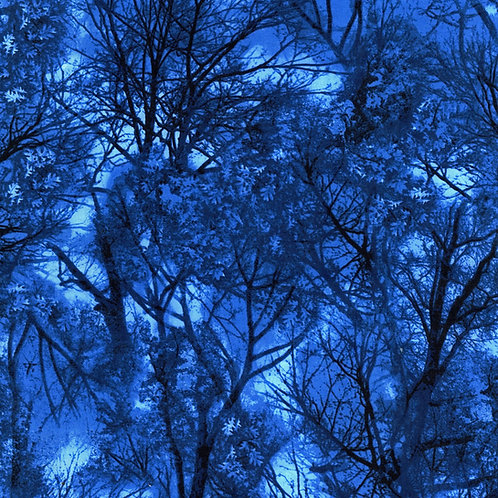 Blue Trees Fabric