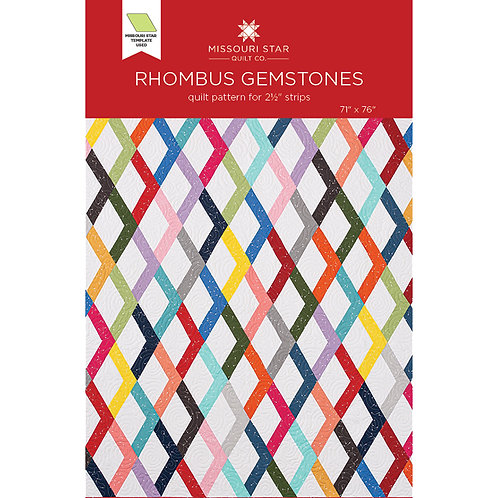 Missouri Star Rhombus Gemstones Pattern