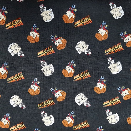 Back To The Future Marty and Doc Fabric