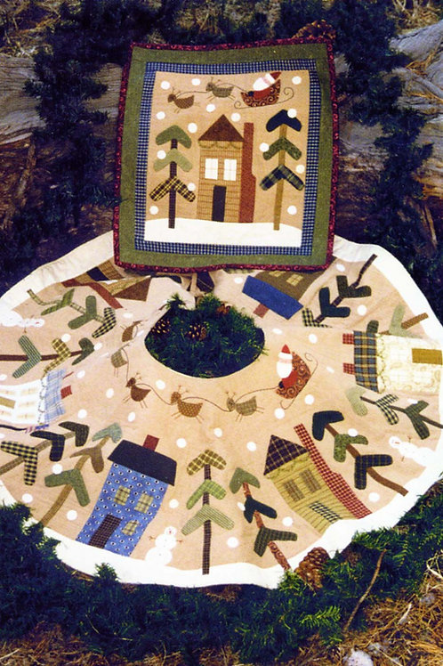 Bareroots Christmas Tree Skirt  or Wall Quilt Pattern