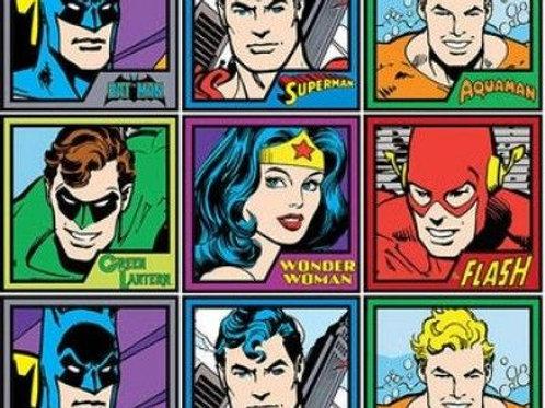 DC Comics Meet The Heroes Fabric