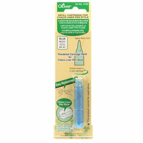 Clover Chaco Liner Pen Style Blue Refill