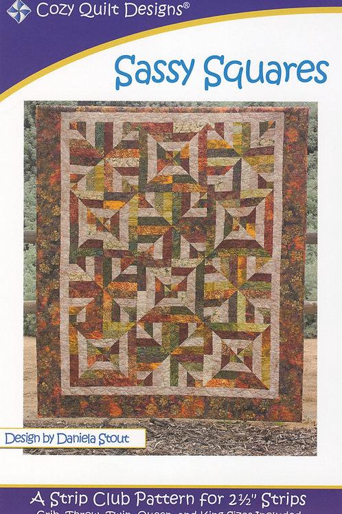 Cozy Quilt Designs Sassy Squares Quilt Pattern