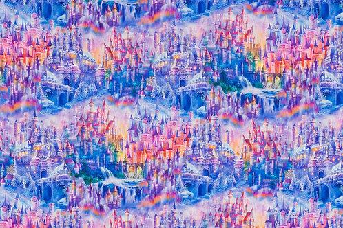 Rainbow Castles Fabric