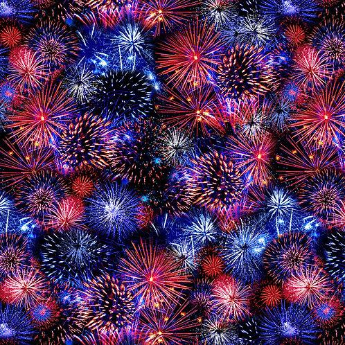 Multi Fireworks Fabric