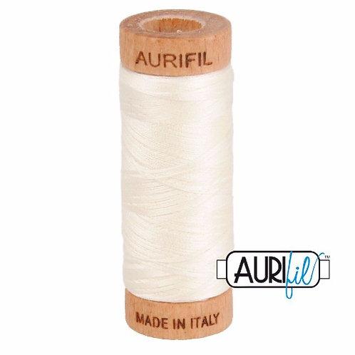 Aurifil 80 280m 2026 Chalk Cotton Thread